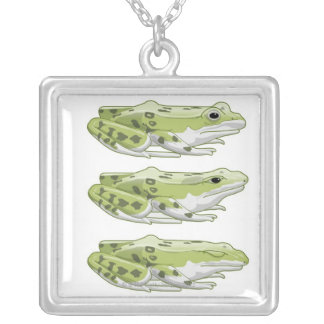 Perez Frog Silver Plated Necklace
