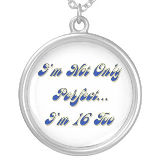 Perfect 16 silver plated necklace