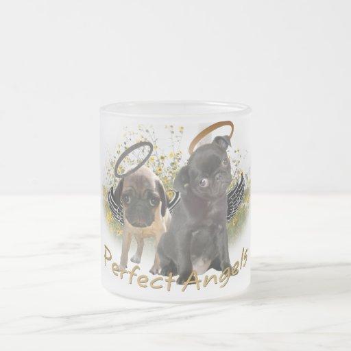 Perfect Angel Pugs Frosted Glass Mug