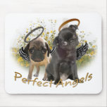 Perfect Angel Pugs Mousemat