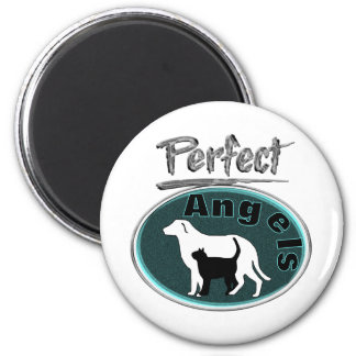 Perfect Angels 6 Cm Round Magnet