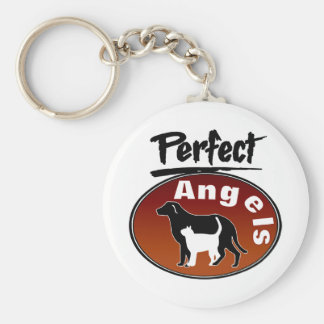 Perfect Angels Basic Round Button Key Ring
