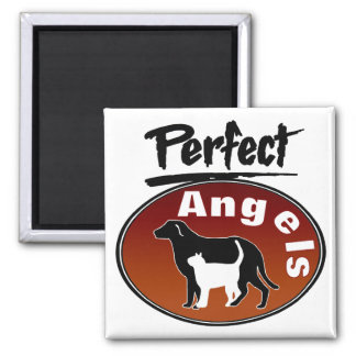 Perfect Angels Square Magnet