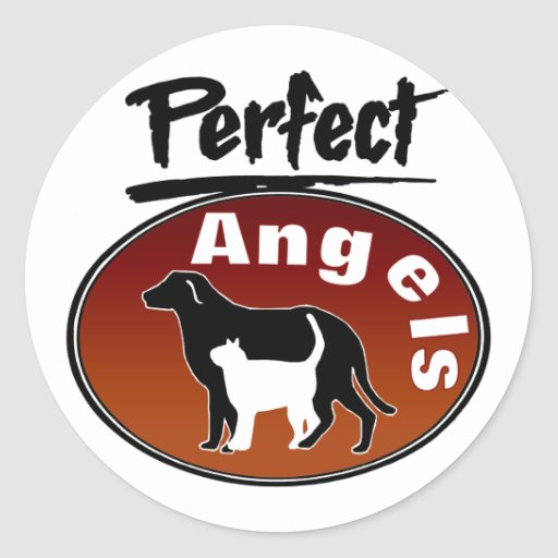 Perfect Angels Round Stickers