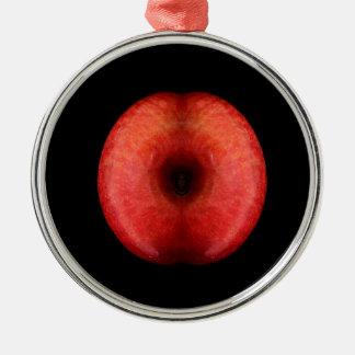 Perfect Apple - Fine Art - Classic - Elegant - Fun Silver-Colored Round Decoration