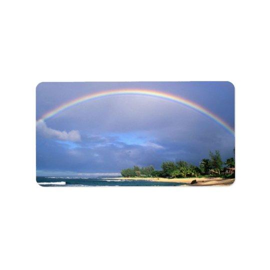 Perfect Beach Rainbow mailing label Address Label