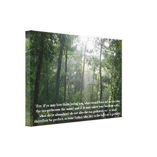 Perfect Bible Scripture Wall Hanging Gallery Wrap Canvas