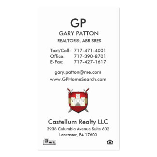 PERFECT BIZ CARD FOR GARY PACK OF STANDARD BUSINESS CARDS