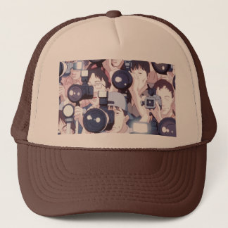 perfect blue photographers hat tan & brown
