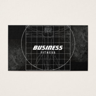 Perfect Body Grunge Dark Fitness Training Business Card