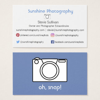 Perfect Camera Business Card for Photographers