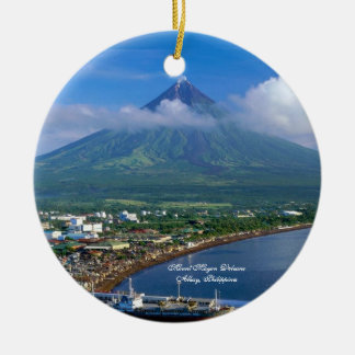 Perfect Cone of Mount Mayon Volcano, Philippines Christmas Ornament