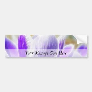 Perfect Crocus Flower Bloom Car Bumper Sticker