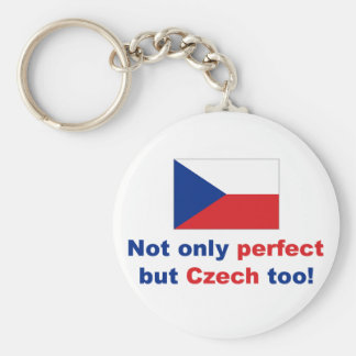 Perfect Czech Basic Round Button Key Ring