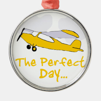 Perfect day flying airplane christmas ornament