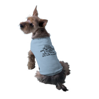 "PERFECT DOG WALKING COAT FUNNY ""TAKE A PIC..."" SLEEVELESS DOG SHIRT"