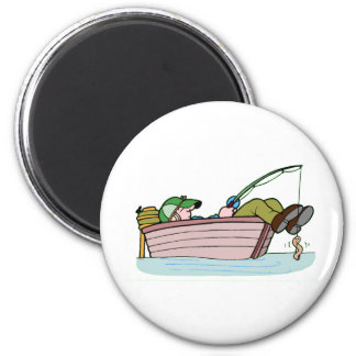 Perfect Fishing Trip 6 Cm Round Magnet