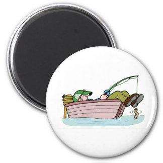 Perfect Fishing Trip 6 Cm Round Magnet