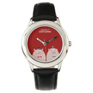 Perfect Gentlemen Funny Stylish Elegant Pigs Cool Watch