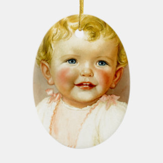 perfect gift for a baby girl birth! ceramic oval decoration