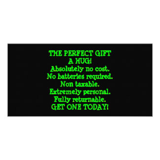 Perfect Gift is a Hug Photo Card