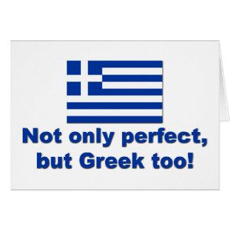 Perfect Greek Greeting Card