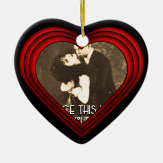 Perfect Heart Photo Frame Template Christmas Ornament