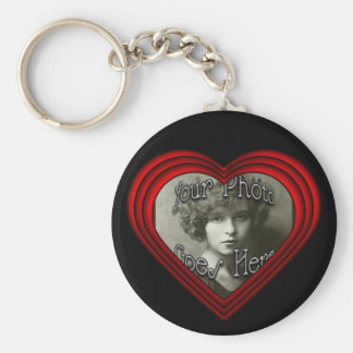 Perfect Heart Photo Frame Template Key Ring
