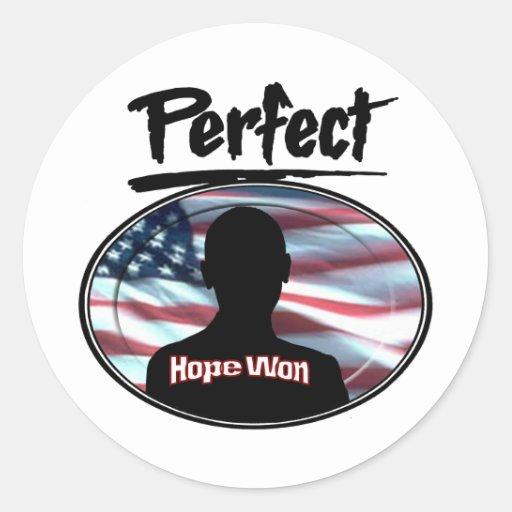 Perfect Hope Won Round Stickers