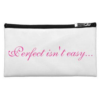 Perfect Isn't Easy Makeup Bags