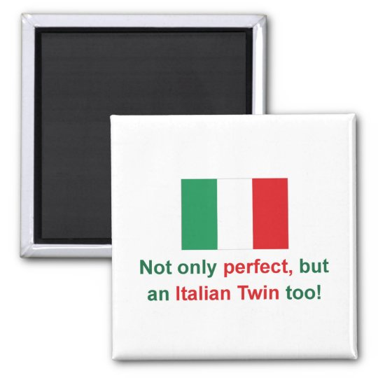 Perfect Italian Twin Square Magnet