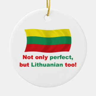 Perfect Lithuanian Round Ceramic Decoration