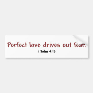 Perfect Love (white) Bumper Sticker