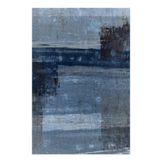 'Perfect Match' Blue Abstract Art Poster