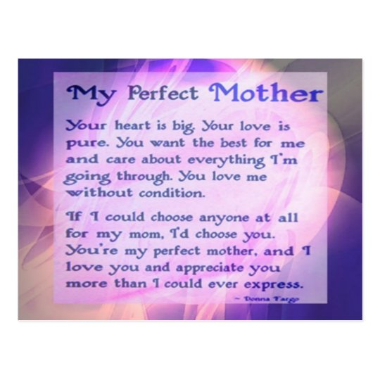 Perfect Mother Postcard
