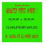 Perfect Numbers Poster