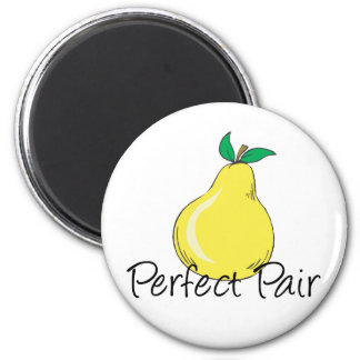 Perfect Pair TWINS 6 Cm Round Magnet
