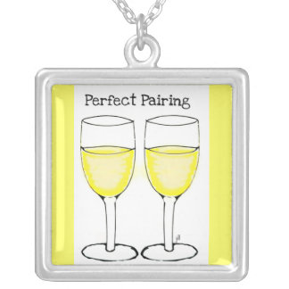 PERFECT PAIRING WINE GLASSES PRINT NECKLACES