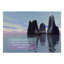"""Perfect Peace"" Inspirational Poster"