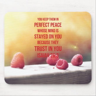 Perfect Peace Isaiah 26:3 Mouse Pad
