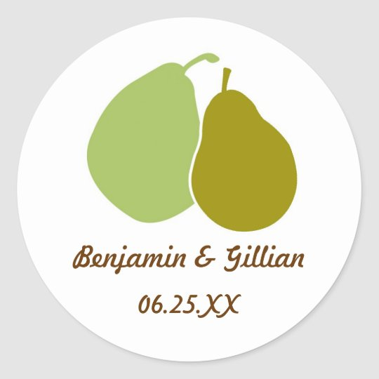 Perfect pear green wedding favour name tag label