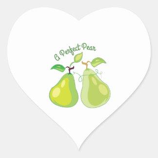 Perfect Pear Heart Sticker