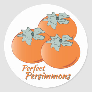Perfect Persimmons Classic Round Sticker