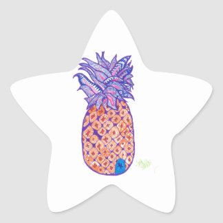 Perfect Pineapple Days Star Sticker