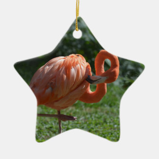 Perfect Pink Flamingo Christmas Ornament
