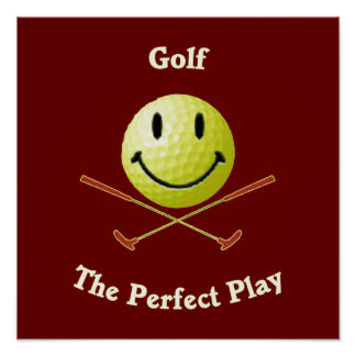 Perfect Play Golf Smiley Posters