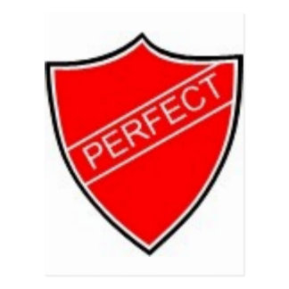 Perfect Prefect Badge Red Postcard