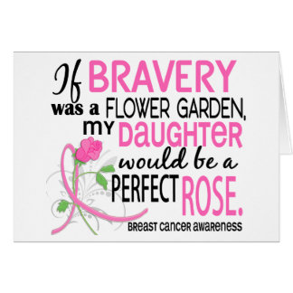 Perfect Rose 2 Daughter Breast Cancer Cards