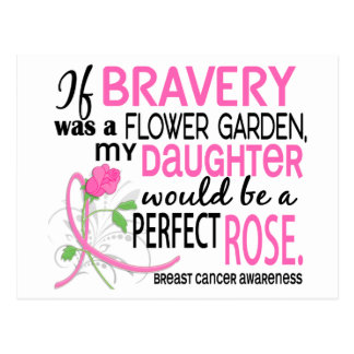 Perfect Rose 2 Daughter Breast Cancer Postcard
