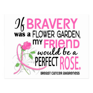 Perfect Rose 2 Friend Breast Cancer Postcard
